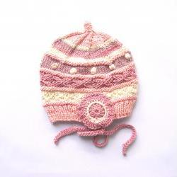 Children Hat, Natural Plant Dye, High-End Silk/Wool, Size 12 Month, OOAK